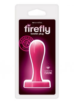 Firefly Bowler Plug Medium Anal Plug Glow In The Dark - Pink