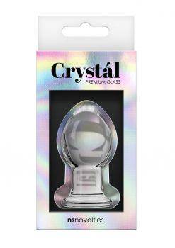 Crystal Anal Plug Premium Glass Small - Clear