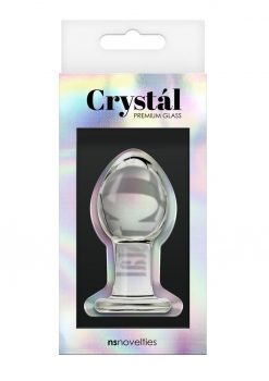 Crystal Anal Plug Premium Glass Medium - Clear