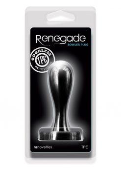 Renegade Bowler Plug Medium Silicone Anal Plug - Black