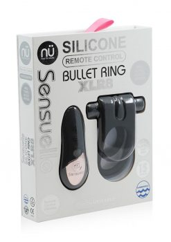 Silicone Bullet Ring XLR8 Remote Control Rechargeable Cock Ring Black