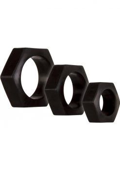 Zero Tolerance Lug Nuts Cockring Waterproof Black 3 Each Per Box