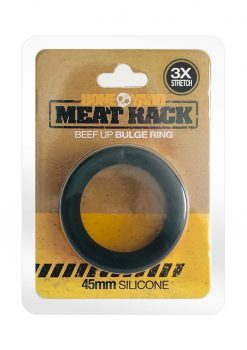 Bone Yard Meat Rack Beef Up Bulge Ring Silicone Cock Ring Black
