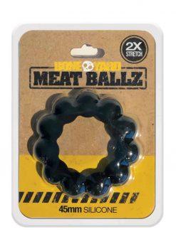 Bone Yard Meat Ballz Silicone Cock Ring Black