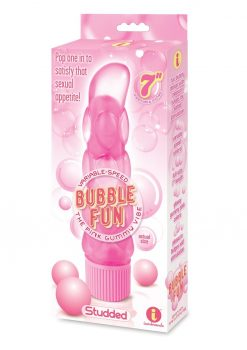 Bubble Fun The Pink Gummy Vibe Studded Pink 7 Inches