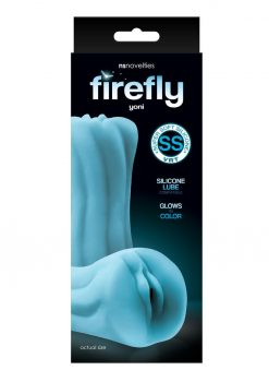 Firefly Yoni Stroker Silicone Glow In The Dark - Pussy - Blue