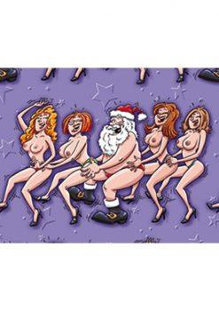 Sexy Santa Conga Line Gift Wrap