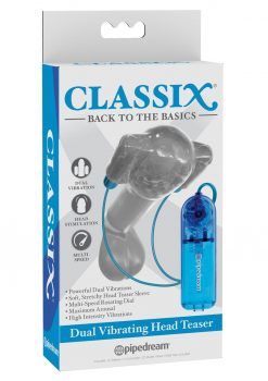 Classix Dual Vibrating Head Teaser Multi Speed Blue
