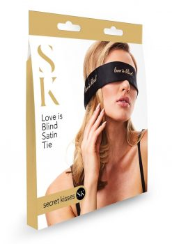 Secret Kisses Love Is Blind Satin Tie Blindfold.