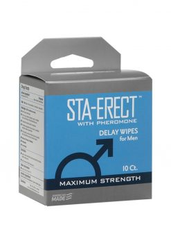 Sta-erect With Pheromone Delay Wipes 10ct Pack
