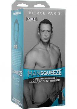 Man Squeeze Men.Com Pierce Paris UltraSkyn Stroker Realistic Anus Vanilla 9 Inches