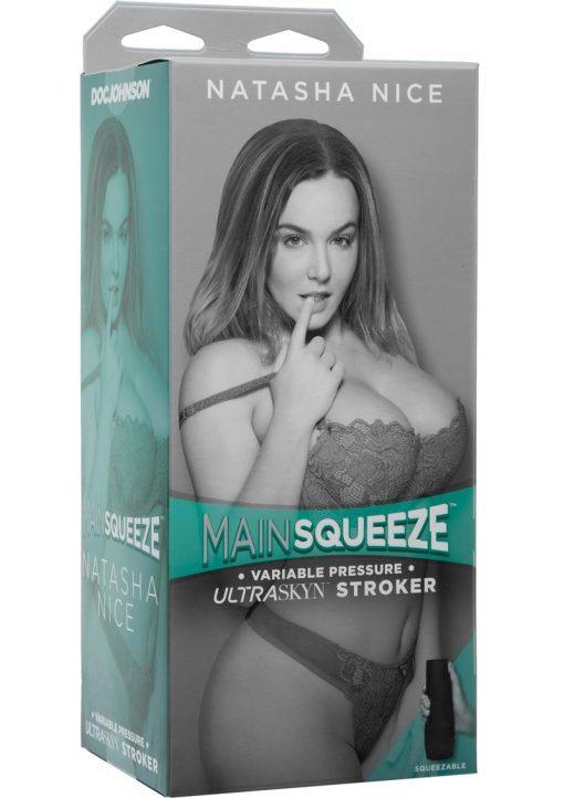 Main Squeeze Natasha Nice UltraSkyn Stroker Pussy Vanilla 9 Inches