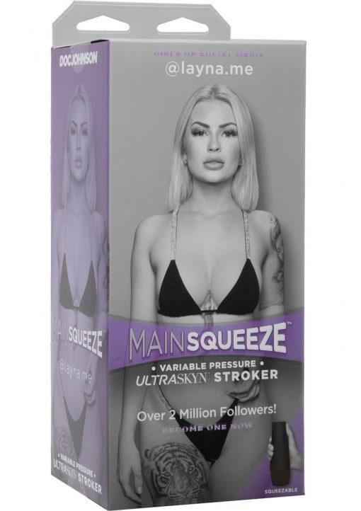 Main Squeeze Girls Of Social Media Layna Me Ultraskyn Stroker Pussy Masturbator Vanilla 8 Inch