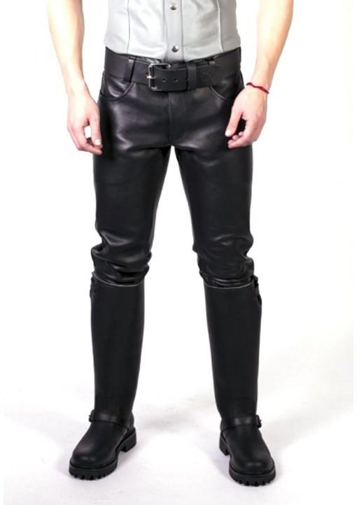 Prowler Red Leather Jeans Blk 35