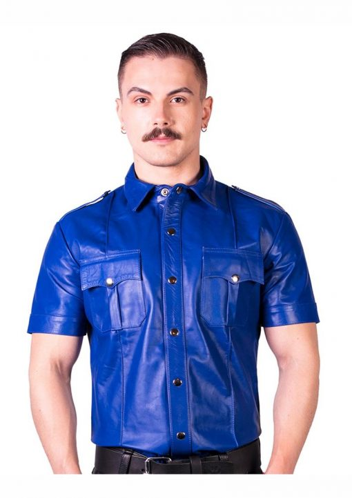 Prowler Red Slim Police Shirt Leather Blue XXL