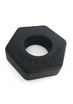 Bone Yard Bust A Nut Silicone Cock Ring Ball Stretcher Black