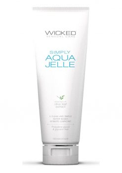 Wicked Sensual Care Simply Aqua Jelle With Olive Leaf Extract 4 Ounce Tube