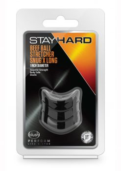 Stay Hard Beef Ball Stretcher Snug X Long Cock Ring Black