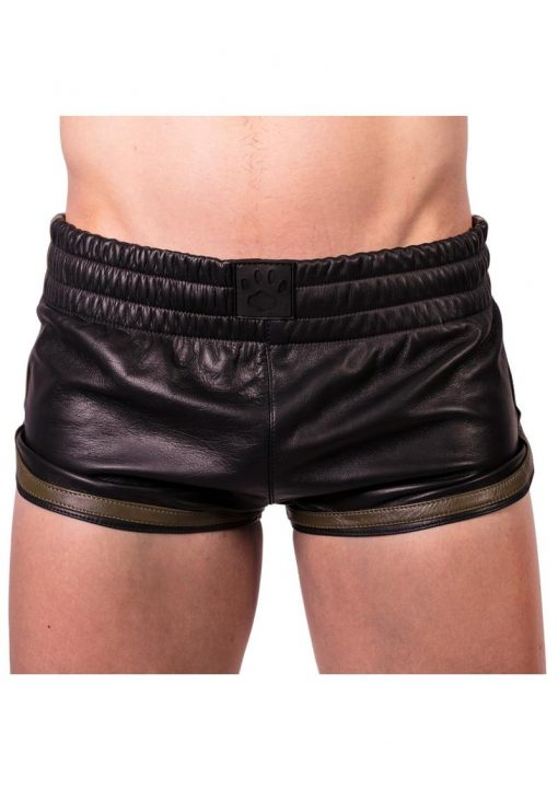 Prowler Red Leather Sport Shorts Grn Xs