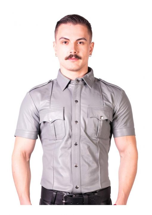 Prowler Red Slim Police Shirt Gry Sm