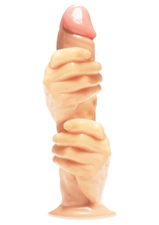 Massive The 2 Fisted Grip Fisting Trainer Realistic Dildo With Suction Cup Flesh 12 Inches