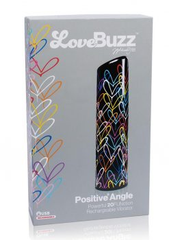 LoveBuzz Positive Angle Multi Function Vibrator Rechargeable Waterproof Black