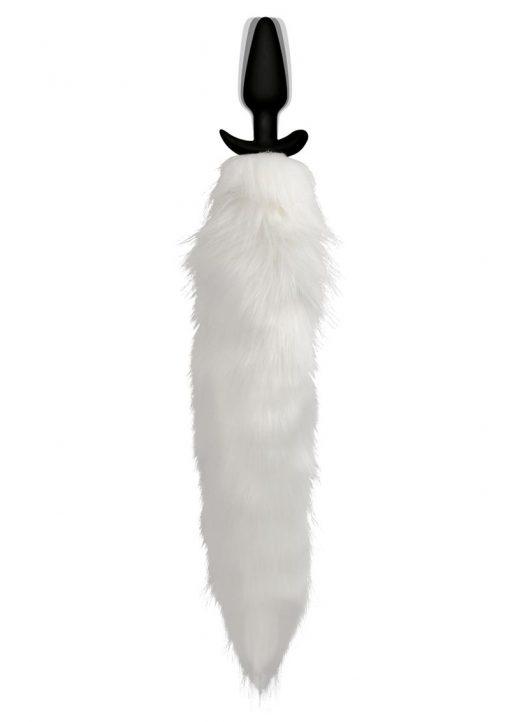 Tailz Vibe White Fox Tail Slender Plug