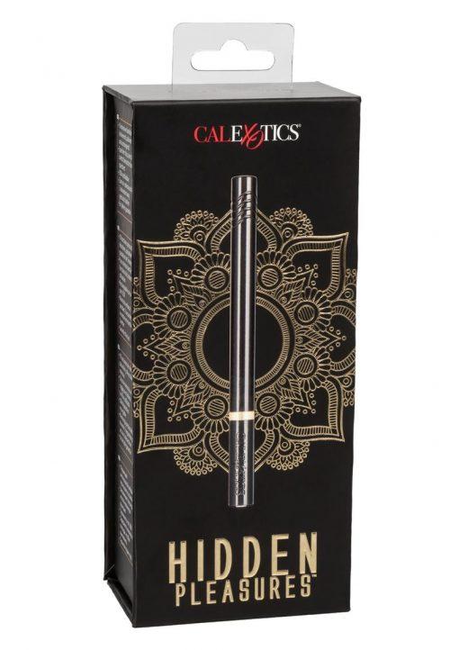 Hidden Pleasures Discreet Slim Massager USB Rechargeable Black 4.25 Inches