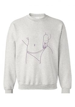V-Desire Sweatshirt - Size MD - Grey