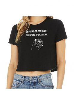 Objects Of Conquest Crop T-Shirt - Size LG - Black