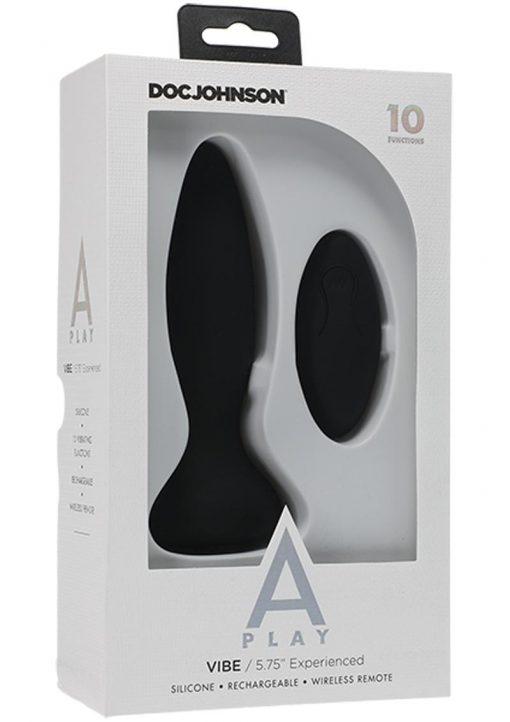 A-play Vibe Exper Plug W/remote Blk