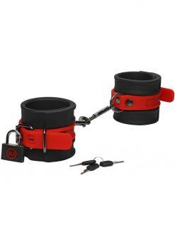 Kink Silicone Wrist Cuffs Bondage Black/Red
