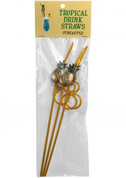 Tropical Drink Straws Pineapple 3 Each Per Pack