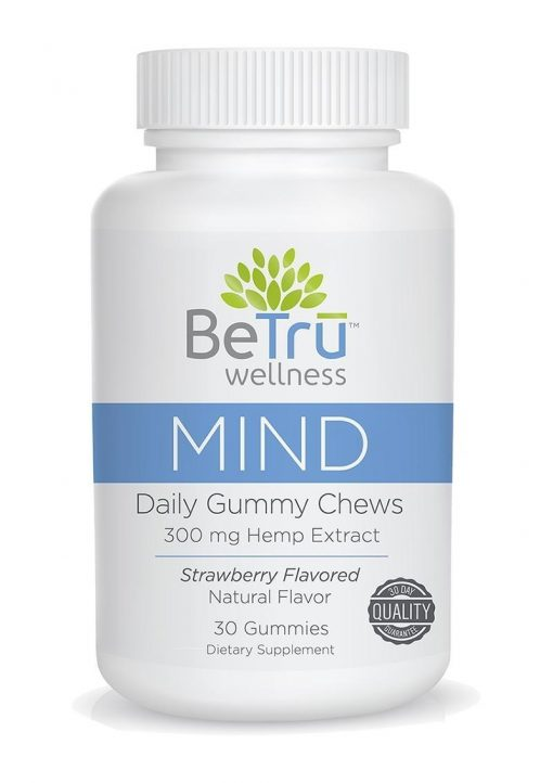 BeTru Wellness Mind Daily Gummy Chews 300mg Hemp Extract Strawberry Flavor 30ct