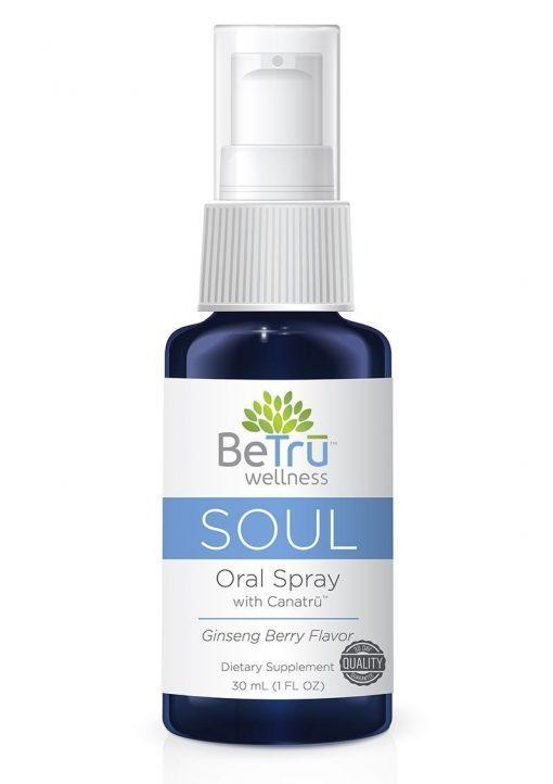 BeTru Wellness Soul Oral Spray With Canatru Emulsified Hemp Oil Ginseng Berry 30 Milliliters