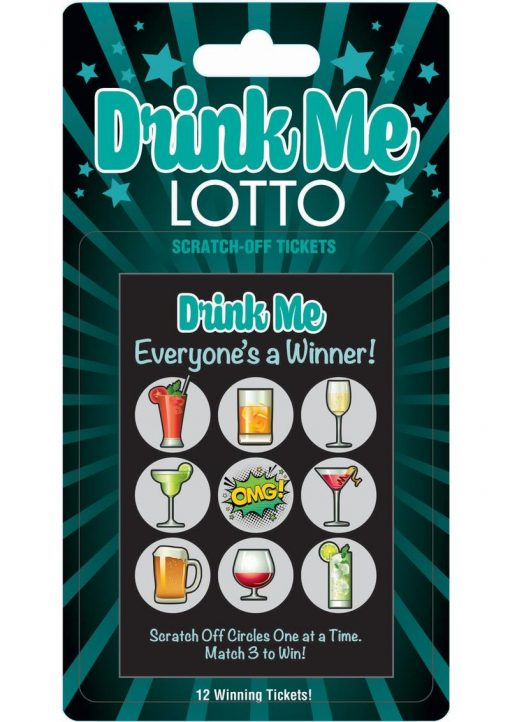 Drink Me Lotto Scratch Off Tickets 12 Each Per Pack