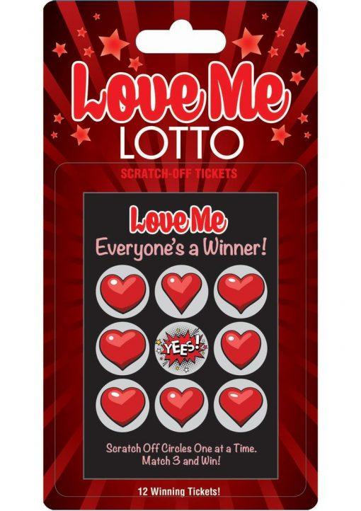 Love Me Lotto Scratch Off Tickets 12 Each Per Pack