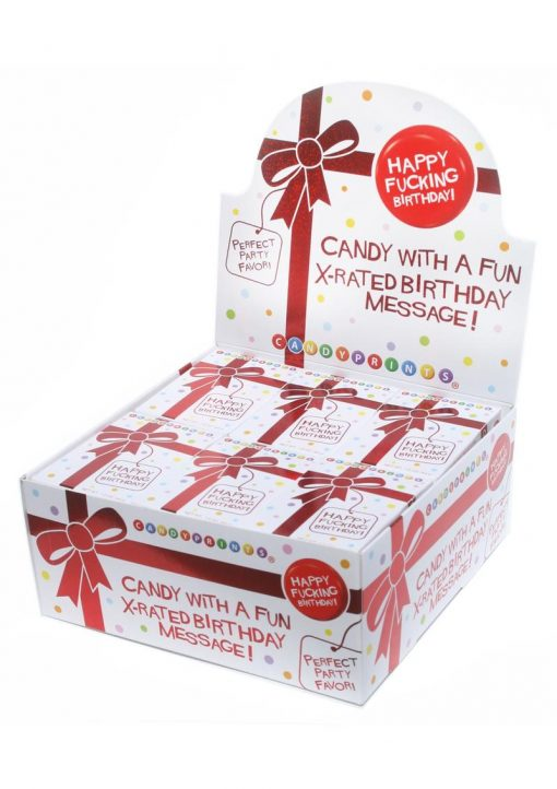 Candy Prints X-rated Birthday Candy 24 Boxes Per Counter Display