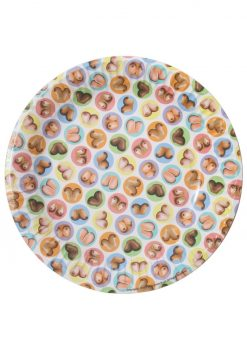 Candy Prints Dirty Dishes Mini Boob Style Paper Plates 7 Inches 8 Each Per Pack
