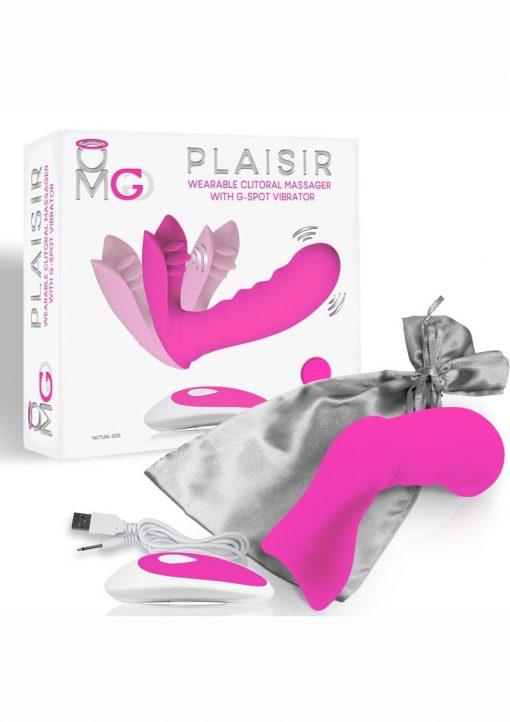 Omg Plasir Remote Control Massager Pink