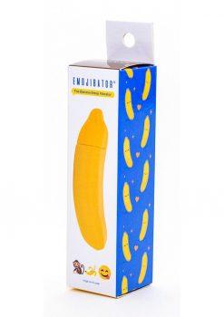 Emojibator The Banana Emoji Silicone Vibrator Waterproof Yellow 4.60 Inches