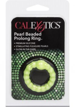 Pearl Beaded Prolong Cock Ring 1.5 inch Diameter Yellow