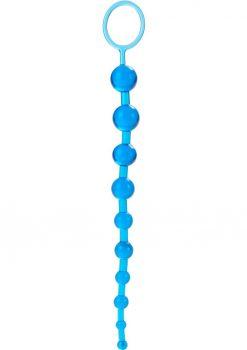 X 10 Beads Graduated Anal Beads 11 Inch Blue
