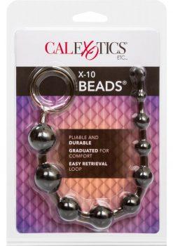 X 10 Beads Graduated Anal Beads 11 Inch Black