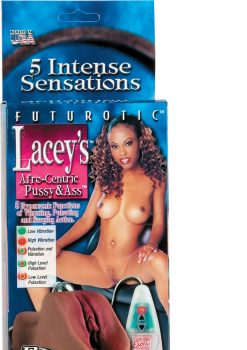 LACEYS AFRO CENTRIC PUSSY AND ASS VIBRATING WITH REMOVABLE MULTIFUNCTION SILVER BULLET BROWN