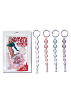Shanes 101 Intro Anal Beads 7.5 Inch Purple