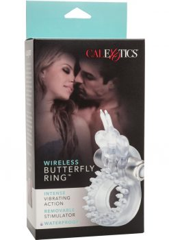 Wireless Butterfly Ring Erection Enhancer With Waterproof Micro Stimulator Clear