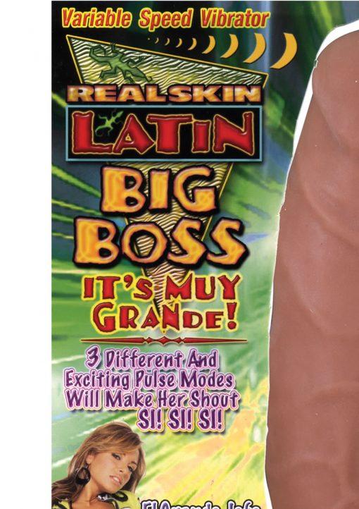 Real Skin Latin Big Boss Vibrator - Caramel