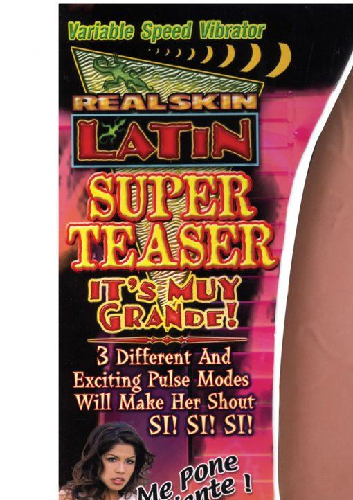 Real Skin Latin Super Teaser Vibrator - Caramel