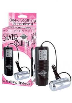 Silver Bullet Vibrator With Remote Control - Silver